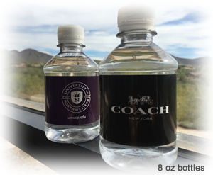 8 oz custom label bottled water